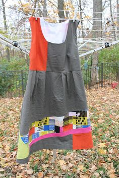 Color blocked washi dress by imaginegnats, via Flickr