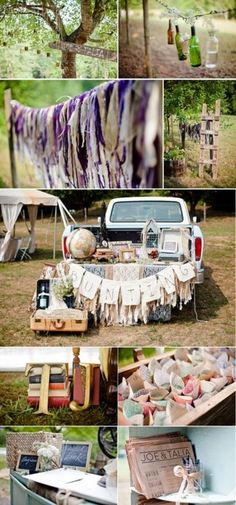 Not sure if rustic or hippie or what, but this is cute.