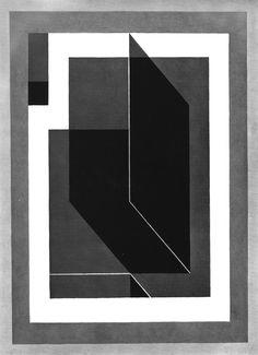 JOSEF ALBERS  BENT BLACK A, 1940  Art Experience NYC  www.artexperiencenyc.com