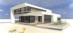 Modern houses Bauhaus style Source by ralphgierlinger Bauhaus Architecture, Modern Architecture House, Bungalows, Urban Design Plan, Bauhaus Style, Sims House, Modern House Plans, Luxury Home Decor, Home Fashion