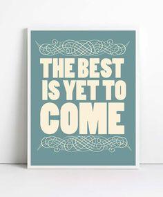 Citations inspirantes, affiches citation, d'art, affiche la typographie, l'art heureux, citations positives.  via Etsy.