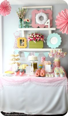 party decor  #sweet  #DIY  #table  #decor  #kid  #girl  #pink