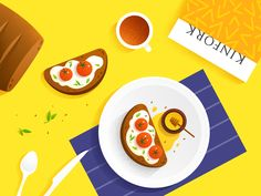 food illustration  by Xiu  yuan  #Design Popular #Dribbble #shots