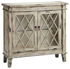 Stein World Kate 2-Glass Door Cabinet - modern - bookcases cabinets and computer armoires - Hayneedle