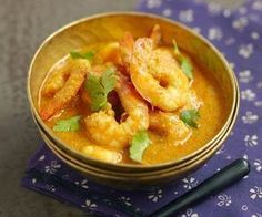 Delicious shrimp curry with coconut milk: a treat - Cuisine - Asian Recipes Quick Recipes, Fish Recipes, Seafood Recipes, Indian Food Recipes, Asian Recipes, Seafood Soup, Chefs, Cooking Chef, Cooking Recipes