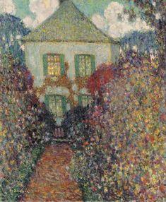 Henri Le Sidaner (1862 -1939)  La Maison de Jean-Jacques Rousseau (1936)