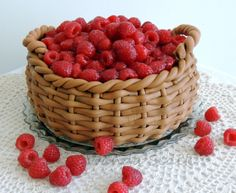 Basket of rasberries Raspberry, Strawberry, Cupcake Cakes, Cupcakes, Amazing Cakes, Basket, The Incredibles, Baking, Fruit