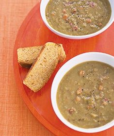 Slow-Cooker Smoky Pea Soup|Happy New Year! Make the most of the holiday—and your time—and break out the slow cooker for this hearty, delicious soup recipe. Try more slow cooker recipes: