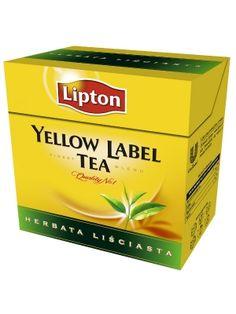 Yellow Label Tea Herbata liściasta  • herbata czarna, liściasta • mieszanka ponad 20 gatunków herbaty • tylko z najlepszych liści z wierzchołków krzewów
