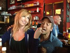 """Mike Rowe recently posted this to his Facebook. With the caption """"Sometimes, Kari Byron from MythBusters feeds me french fries. I don't mind."""""""