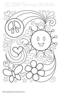 Color Love Coloring Page Blank By Thaneeya McArdle