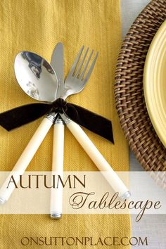 See how to combine vintage treasures, discount store finds and natural elements to put together the perfect Early Fall Tablescape!