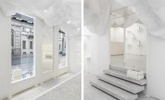 Italian luxury brand Valextra unveiled the latest chapter in its ongoing series of aesthetic reinventions, with a new pop-up store design by American duo Alex Mustonen and Daniel Arsham of Snarkitecture. The pair worked on Valextra's via Manzoni boutiq...