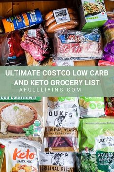Going to Costco? Here is the Ultimate Costco Grocery List for Low Carb and Keto! Save money by buying your groceries in bulk at Costco. Costco Snacks, Keto Snacks, Costco Recipes, Low Carb Shopping List, Healthy Shopping, Keto Carbs, Low Carb Keto, Easy Keto Meal Plan, Easy Low Carb Recipes