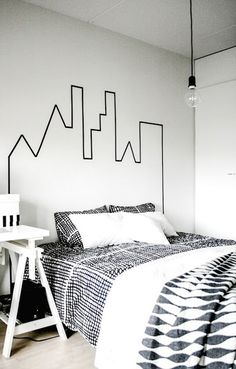 Headboard wall decoration can transform the look and feel of your bedroom. Headboards are a great way to tie your bed design in with the rest of your bedroom furniture. Bedroom Wall, Bedroom Decor, Bed Room, Wall Decor, Men's Bedroom Design, Deco Cool, How To Make Headboard, Bed Without Headboard, Black Headboard