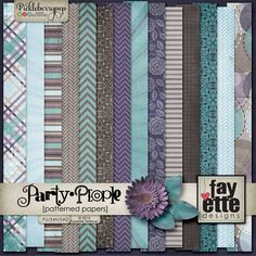 Party People Patterned Papers by Fayette Designs