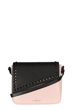 Cross body bags don't get better than this. Abi the perfect everyday bag, large enough to fit all your daily essentials, with bold angular flap details to boot. This black and dusty pink colourway is cute but edgy.