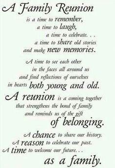 Family Reunion Itinerary | Family Reunion | Pinterest | Family ...