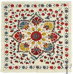 Uzbek silk suzani.