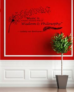 Housewares Wall Vinyl Decal Quote Beethoven by DecalHouse on Etsy, $43.99