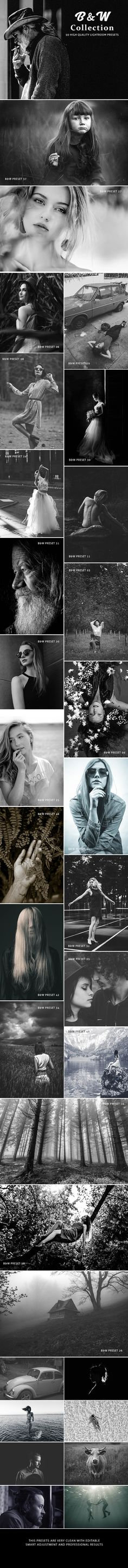 B&W Collection 50 Lightroom Presets - #Lightroom Presets Add-ons