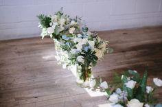 grey, white & natural green wedding flowers. olivia & nick's wedding, photos by http://www.jilliandarcybotting.com
