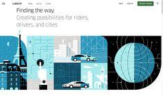 Uber product branding illustration