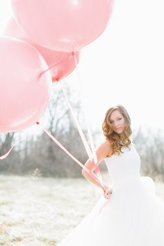 Pink And Red Wedding Ideas including some oversized ballons and some magical wedding gowns. Big Balloons, Wedding Balloons, Latex Balloons, Wedding Photo Props, Wedding Shoot, Wedding Engagement, I Believe In Pink, Magical Wedding, Red Wedding