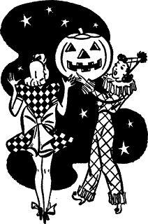 1940s Halloween Party Graphic ~ Zibi Vintage Scrap