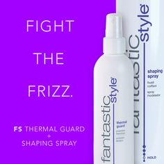 Don't let frizz keep you from looking #Fantastic, fight the frizz with Fantastic Sams Thermal Guard and Shaping Spray. #FantasticSams #NoFrizz #FrizzyHair #antifrizz #hairproducts #thermalguard