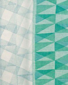 triangle blocks make patterns on tea towels // martha stewart