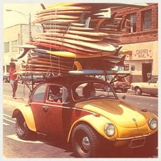 """The Squashed by Surfboards Beetle"" #volkswagen #surfing Photo: pelicanparts.com"