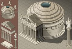 Buy Isometric Pantheon Temple in Roman Architecture by aurielaki on GraphicRiver. Detailed illustration of a Isometric Pantheon Temple in Roman Architecture style. This illustration is saved in Rome Architecture, Conceptual Architecture, Historical Architecture, Architecture Details, Ancient Rome, Ancient History, Art History, History Projects, Arquitectura Wallpaper