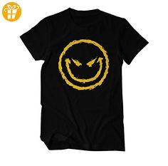 Böser Smiley Angry Fun T-Shirt Herren schwarz Small (*Partner-Link)