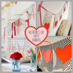 7 Valentine's Day Party Banners - Holiday DIY
