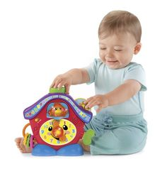 A friendly light-up birdie pops out with a greeting and lots of songs and activities keep baby busy! Press the light-up nose for a counting song spin the dial to learn about night and day turn the ...