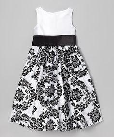 Sweet Charlotte White & Black Rose Dress - Infant | Zulilyfinds ...