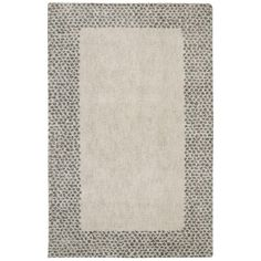 Spotted Border Gray 5 ft. x 8 ft. Area Rug