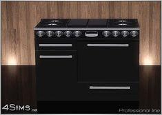 Dual fuel gas range, professional stove line