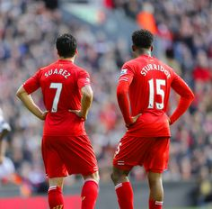 Suarez and Sturridge. The most amazing Strike Partnership in the Premier league Best Football Team, Liverpool Football Club, Football Fans, Liverpool Fc, Liverpool Legends, This Is Anfield, European Men, Football Hall Of Fame, You'll Never Walk Alone