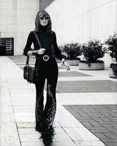 TGIF, foxes! #frejabehaerichsen channeling Jane Fonda in Klute, 1971. By @terryrichardson. Style genius @georgecortina #VogueNippon