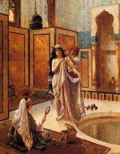Rudolf Ernst (1854-1932),  Le Harem de bain