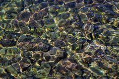 Photograph by Stuart Litoff.  #Rocks under #clear #water in the #Piran, #Slovenia, #marina.