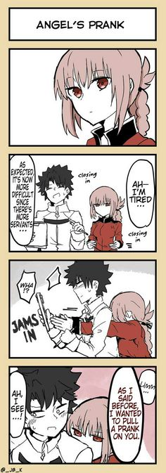 Angels Prank [TL] - Prank - Prank meme - - Angel's Prank The post Angels Prank [TL] appeared first on Gag Dad. Fate Servants, Florence Nightingale, Fate Anime Series, Short Comics, Cool Animations, Cute Comics, Fate Zero, Manga Comics, Fate Stay Night
