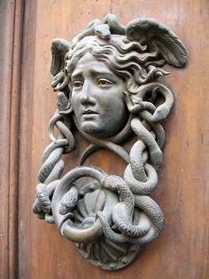 Medusa door knocker