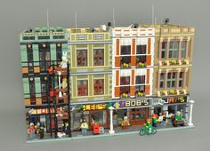 Hi everyone, I would like to present my 7th modular building (or 8 to 11 depending on how you want to count them ;-)): A quad-pack of 16-wide modulars...