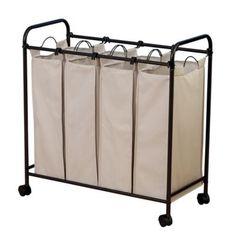 Household Essentials® Rolling Quad Laundry Sorter - BedBathandBeyond.com