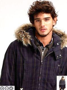 marlon teixeira models the Saks catalogue Male Model Names, Male Models, Most Beautiful Faces, Gorgeous Men, Stylish Men, Men Casual, Casual Styles, Winter Jacket Sale, Marlon Texeira