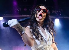 Charli XCX performs on stage on Day 1 of MTV Brand New 2015 at Islington Assembly Hall on January 28, 2015 in London, United Kingdom.