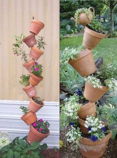 Schöne Dekorationsidee für den Garten